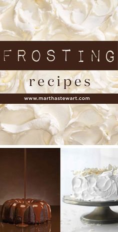 Frosting Recipes | Martha Stewart Living - Before you make your next cake, browse this collection of frosting recipes. They're spoon-licking good! We've got dark-chocolate ganache, basic buttercream, cream cheese frosting, and more.