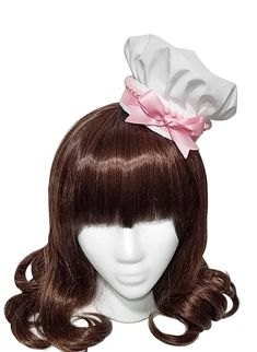 03679846d82 Adorable White and Pink Bakery Sweet Mini Pastry Chef Hat - 10+ Trim Colors  Available - Made to Orde