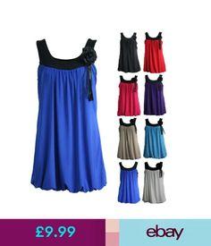 Dresses Womens Fancy Sleeveless Tunic Top Boho Retro 1920S Style Party Bubble Hem Dress #ebay #Fashion