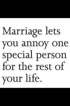 Marriage ;)
