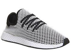 innovative design 6d92a 9812e adidas Deerupt Runner, Chaussures de Gymnastique Homme, Noir (Core Black Core Black