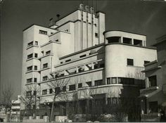 Bazaltin Building in Bucharest, by Marcel Janco, 1935. Photo by Margaret Bourke-White, 1940