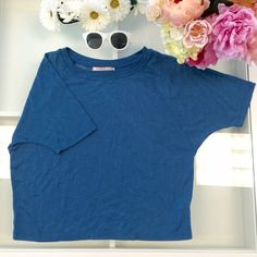 Cerulean blue cotton loose t shirt Super comfortable Forever 21 Tops Tees - Short Sleeve