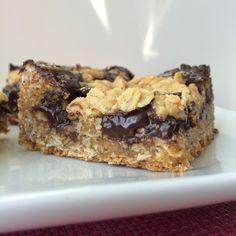 gluten free oat fudge bars - Hungry Happens!
