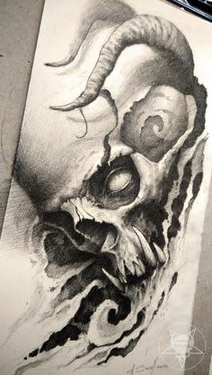 Totenkopf Tattoo Vorlage/Idee The post Totenkopf appeared first on Frisuren Tips - Tattoos And Body Art Tattoo Skull Tattoo Design, Skull Design, Skull Tattoos, Body Art Tattoos, Sleeve Tattoos, Tattoo Designs, Acab Tattoo, Demon Tattoo, Tattoo Sketches
