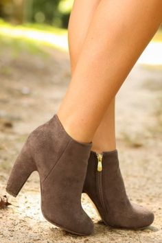 L.A. Lady Booties-Chocolate