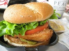 Desi Zinger Burger (substitute it with vegan or morning star veggie chick patties)