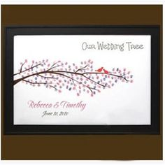 Free Shipping Personalized Fingerprint tree Wedding Guestbook /Wedding Decoration/Novelty items QDH-18