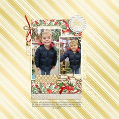 """Digital Scrapbook Inspirational Layout for Christmas made with """"A Little Sparkle"""" kit on Sahin Designs, Layout by Beatrice"""