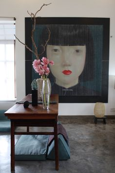My home with painting of Thai artist Attasit