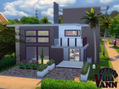 A modern family house with 3 bedrooms,3 baths.  Found in TSR Category 'Sims 4 Residential Lots'