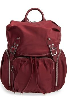 67c002deaf MZ Wallace  Marlena  Bedford Nylon Backpack available at  Nordstrom Red  Backpack