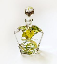 Botanical Decanter  Grass Fields Collection  made to by yevgenia, $200.00