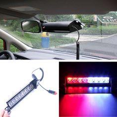 best price 8 led redblue yellow blue car police strobe flash light dash emergency warning 3 #emergency #light #bar