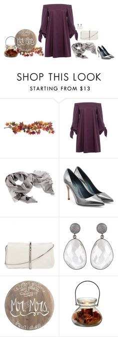 """Fall wedding"" by blueeyed-dreamer ❤ liked on Polyvore featuring Nearly Natural, TIBI, Sergio Rossi, 3.1 Phillip Lim and Glory Haus"