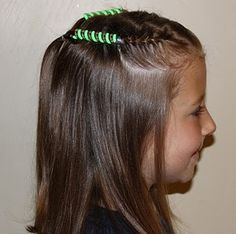 bead barrette alternative for easy school hairstyle using Sidewinders ...