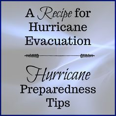 A recipe for hurricane evacuation - hurricane preparedness tips is about what I learned when evacuating for Hurricane Irma in Hurricane Preparedness Kit, Hurricane Evacuation, Disaster Preparedness, Tampa Bay Area, After The Storm, Air B And B, Sunshine State, Florida Travel, About Me Blog