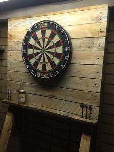"Free standing dart board stand ""raw"""