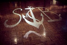 Gobo with anchor and monogram
