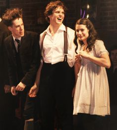 John Gallagher Jr, Jonathan Groff and Lea Michele in Spring Awakening [ha, didn't know John Gallagher Jr was a Broadway guy--makes me love him more] [Glee & Newsroom ] Broadway Theatre, Musical Theatre, Broadway Shows, Musicals Broadway, Spring Awakening Musical, The Rocky Horror Picture Show, Spring Breakers, Theatre Problems, Billie Joe Armstrong