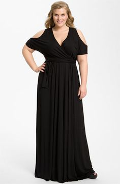 CUTE! Rachel Pally 'Farris' Cold Shoulder Knit Maxi Dress (Plus) available at Nordstrom