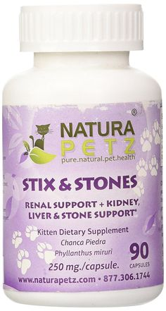 Natura Petz Stix and Stones Renal, Kidney, Liver and Stone Support for Kittens, 90 Capsules, 250mg Per Capsule ** Find out more about the great product at the image link. (This is an affiliate link and I receive a commission for the sales)