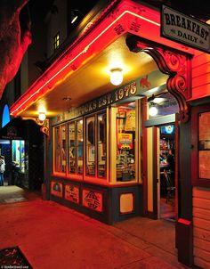 Yum yum.  F. McLintock's, Higuera Street, San Luis Obispo, California, by Ken Rockwell