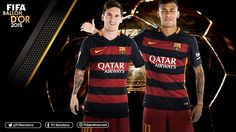 Messi, left, and Neymar will be vying for the 2015 Ballon d'Or. / FCB GRAPHIC DESIGN