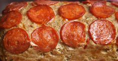 Cheesy, Pizza Stuffed Meatloaf
