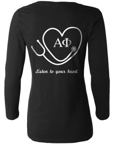 Alpha Phi Listen To Your Heart Long Sleeve