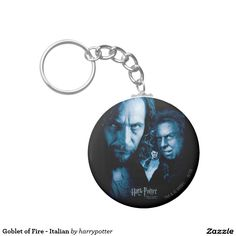 Goblet of Fire - Italian Basic Round Button Keychain