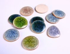 11 mixed color handmade crackle porcelain by TheBeadsofDreams, $10.20