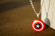 Captain America Necklace | Capt. America's Shield | Super Cute!