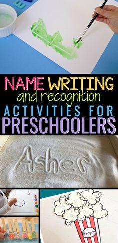 Name Writing Activities, Name Activities Preschool, Writing Activities For Preschoolers, Name Writing Practice, Handwriting Activities, Preschool Writing, Preschool Learning Activities, Preschool Activities, Handwriting Practice