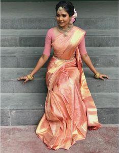 SPT Bridal Hair and Makeup Brauthaar , Bridal Sarees South Indian, Bridal Silk Saree, Indian Bridal Outfits, Indian Bridal Fashion, Indian Bridal Wear, Saree Wedding, Indian Dresses, Tamil Wedding, South Indian Weddings