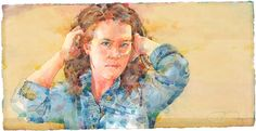 """""""Something in the Way She Moves"""", watercolor by Ted Nuttall <3"""