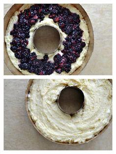 Lemon and Blackberry Ricotta Pound Cake with Chardonnay Glaze