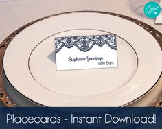 """Lace Place Name Cards Template 