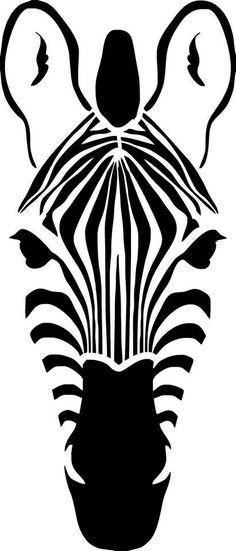 """Stencil stencil stencil """"zebra head"""" - Pochoir stencil tête de zébre par DuMazelfrenchstencil sur Etsy Plus - Stencil Animal, Stencil Art, Silhouette Portrait, Silhouette Art, Stencil Patterns, Stencil Designs, Stencil Templates, Using Acrylic Paint, Art Plastique"""