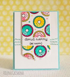 card sweet treats cake, donuts, Lawn Fawn Donut worry be happy, Donut makes me happy Lawn Fawn Blog, Donuts, Scrapbooking, Diy Scrapbook, Lawn Fawn Stamps, Paper Smooches, Cricut Cards, Card Sketches, Creative Cards