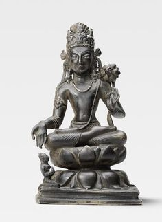 Bonhams Fine Art Auctioneers & Valuers: auctioneers of art, pictures, collectables and motor cars Buddha Statues, Guanyin, Buddhist Art, Swat, Cannon, Lotus, Copper, Bronze, Sculpture