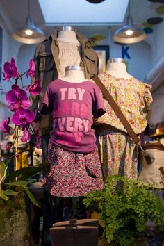 Get her ready to head back to school in Liberty of London print skirts and graphic tees.