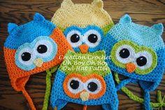 Owl Hat Pattern Oh Boy Oh Boy (3-5 yrs) Start back on Row 3 - I hook