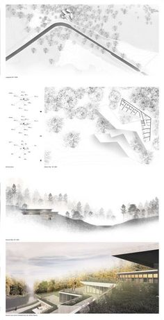 Ein Knick in der Landschaft – Theorie der Architektur und Entwerfen #landscapearchitectureportfolio