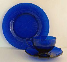 -Addie Blue Depression Glass,Coblat Blue Depression Glass