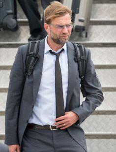 Jürgen Klopp auf dem Flughafen in Dortmund.