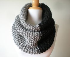 The Oversized Unisex Chunky Cowl Hooden scarf Extra large Circule scarf by LarvaMade