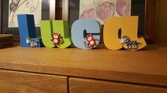 Luca - www.lemonsigns-shop.com nursery wall decor baby name letters animal theme
