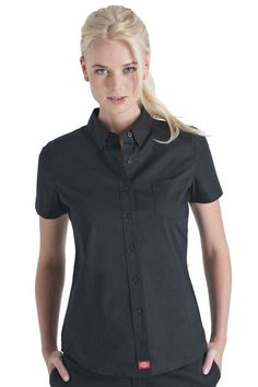 4cd26ab00 Dickies Girl - Clothing, Work Clothes & Workwear for Women | Dickies. Black  Button Down ShirtGirl ...