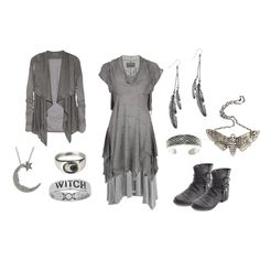 Dark Mori Grey by grimoire-grotto on Polyvore featuring AllSaints, Zimmermann, Helmut Lang, Charlotte Russe, The Wildness Jewellery, Suzannah Wainhouse, Monki, Carolina Glamour Collection, grey and darkmori
